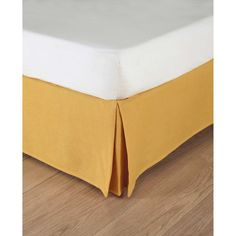Bettrahmenbezug aus grobem Leinen, 140 x 190 cm, gelb