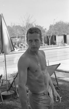 Paul Newman photographed by Leo Fuchs. 1959.