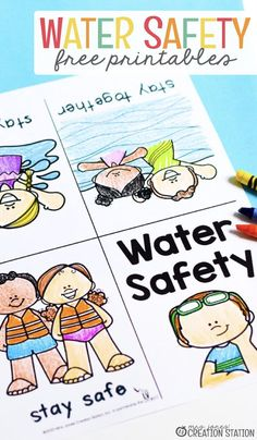 Summer Safety, Safety Week, Home Safety, Child Safety, Safety Tips, Swimming Lessons For Kids, Swim Lessons, Teaching Safety, Safety Crafts
