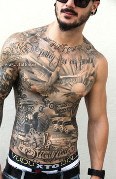 1 - 1 - Best Picture For abdomen gym Fo. Hot Guys Tattoos, Cool Chest Tattoos, Chest Piece Tattoos, Pieces Tattoo, Dope Tattoos, Best Sleeve Tattoos, Eagle Tattoos, Torso Tattoos, Stomach Tattoos