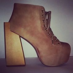 #JeffreyCampbell #Security in Taupe from #NastyGal