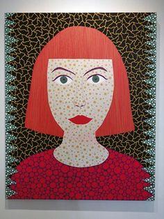 Yayoi Kusama, Self Portrait, 2011 Yayoi Kusama, Andy Warhol, Nagano, George Segal, Psychedelic Colors, Pop Art Movement, Dot Day, Ecole Art, Artwork Images