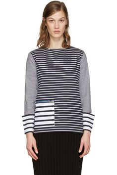 Stella McCartney - Navy Striped T-Shirt