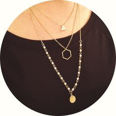 three layer necklace New without tag .gold tone necklace Nordstrom Jewelry Necklaces