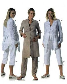 Burda 7956 Maternity Tunic Top and Pants Sewing Pattern Misses Size 8-10-12-14-16-18-20 UNCUT Coat Pattern Sewing, Hat Patterns To Sew, Skirt Patterns Sewing, Maternity Patterns, Maternity Tunic, Kids Coats, Hoodie Jacket, Knit Dress, Jackets For Women