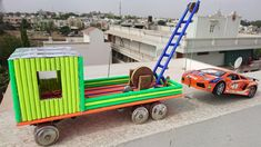 How to Make a Truck with Towing Crane using Pencil at Home