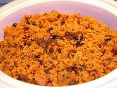 When we lived in Puerto Rico, this was a favorite meal. Were back in the States now, but when I make Red Beans and Rice it transports me back to La Isla Del Encanto! It can be eaten as a meal itself or with a simple salad. Spanish Dishes, Mexican Dishes, Spanish Food, Spanish Recipes, Spanish Rice Recipe, Rice Recipes, Mexican Food Recipes, Cooking Recipes, Recipies
