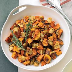 Roasted Sweet Potatoes and Apples.
