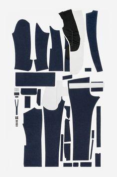 Pattern pieces for Pal Zileri men's suit jacket. Photo© Pal Zileri.