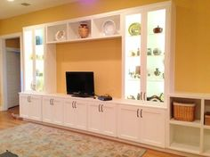 White Entertainment Center Design Ideas, Pictures, Remodel, and Decor - page 4