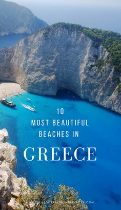 Looking for something a little spectacular for your next beach holiday? Here are the top 10 most beautiful beaches in Greece. There's something here for everyone - from Shipwreck Cove in Zakynthos to the lagoons of Crete, the lunar splendour of Santorini and Milos, to hidden gems in Koufonisia and Pelion. #greece #beach #europe