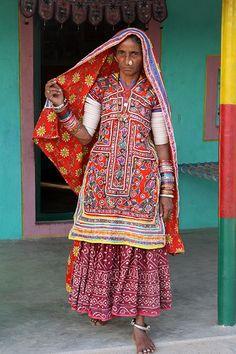 India - Gujarat, Meghwal tribal people - Bhirandhiaro village. # Ethnic textiles