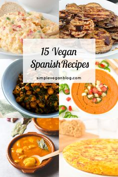 15 Vegan Spanish recipes | simpleveganblog.com #vegan #spanish