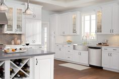 Sierra Vista Cabinets: Specs & Features | Timberlake Cabinetry in Painted Maple Cream Glaze and Expresso