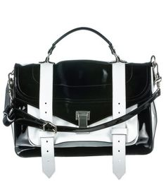 Trending Now: Sporty Separates on - Proenza Schouler Patent Leather Medium Patent Leather, Leather Bag, Black Leather, Jeweled Shoes, Vide Poche, New Chic, Sporty Style, Medium Bags, Proenza Schouler