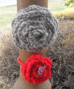 Crocheted Ponytail Holders by HahnMade on Etsy,
