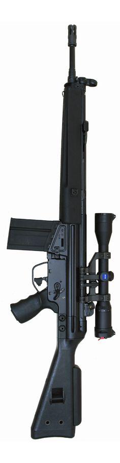 HK41 Excellent rifle ... Assault Weapon, Assault Rifle, Big Guns, Cool Guns, Tactical Rifles, Firearms, Battle Rifle, Hunting Rifles, Military Weapons