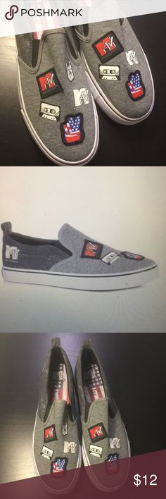 MTV Grey Slip on sneakers Cool grey slip on sneakers & Other Stories Shoes Sneakers