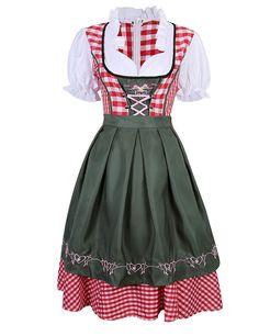 Amazon.com: LanLan Women's German Mini Dirndl Oktoberfest Fancy Dress Ladies Costume: Clothing