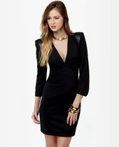 Power Play Structured Black Dress