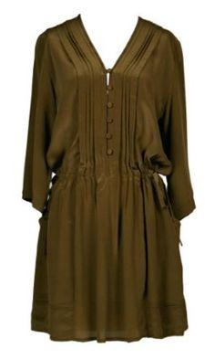 Silk Drawstring Pleated Dress $128.00