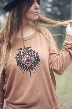 Third Eye Sweater in Rust by skylinefever on Etsy.  Super cozy and the makers are such wonderful people.