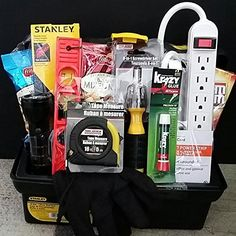 Handyman New Home Housewarming Tool Box Gift Basket Set: Housewarming gift