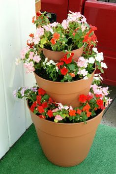 three tired planter