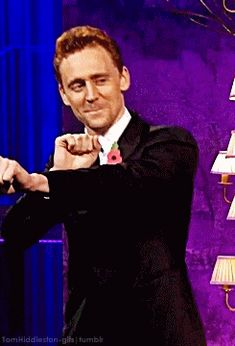 "tomhiddleston-gifs:""Tom's face, while dancing, is a true gift from heaven"""