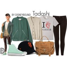 Tadashi by leslieakay on Polyvore featuring Ted Baker, Converse, Proenza Schouler, Banana Republic, Tadashi, disney, disneybound and disneycharacter