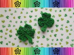 Shamrock and Clover Applique - Free Crochet Pattern by EverLaughter