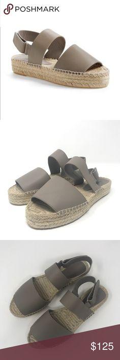 """[VINCE] 10M Emilia Espadrilles Taupe/grey EUC VINCE  Emilia Espadrille sandals  Women's size 10  in excellent condition!  platform is 1.25""""  color is a gray/taupe Vince Shoes Espadrilles"""