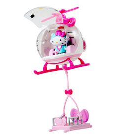 This Hello Kitty Emergency Helicopter Toy is perfect! #zulilyfinds
