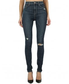 Paige Premium Denim Margot High-rise Ultra Skinny in Elia Destructed Paige Denim, Fashion Editor, Perfect Fit, Fitness Models, Product Launch, Skinny Jeans, Celebrities, Pants, Shopping