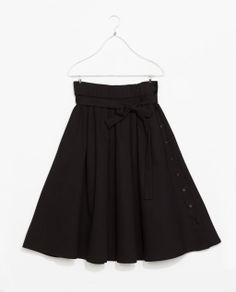Image 7 of MIDI FLARE SKIRT from Zara