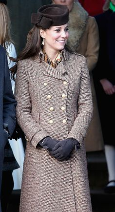 Kate Middleton Christmas Day outfits always wow us! The Duchess of Cambridge always dresses to impress for the royal holiday season — see the photos! Moda Kate Middleton, Looks Kate Middleton, Estilo Kate Middleton, Princesse Kate Middleton, Kate Middleton Photos, Kate Middleton Fashion, Kate Middleton Outfits, Christmas Day Outfit, Fashion Clothes