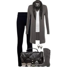 Shades of Grey by partywithgatsby on Polyvore featuring Lamberto Losani, Isabella Oliver, Helmut Lang, Proenza Schouler, MICHAEL Michael Kors, Wet Seal, MANGO, Gucci, top handle bags and long cardigans