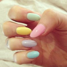pastel nails <3 these would be perfect for Easter!