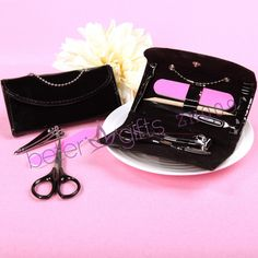 Free Shipping 100box Black Purss Manicure Set ZH009 Slumber Party gifts             http://aliexpress.com/store/product/Free-Shipping-100box-Pink-Flip-Flop-Bottle-Opener-wedding-bomboniere-WJ058-B/513753_1719869702.html  #weddingfavors #weddingideas #partydecoration #beachparty #summerparty #souvenirs #beterwedding  #bomboniere
