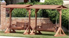 Building a tall swing frame porch swing a frame diy for Diy adult swing set