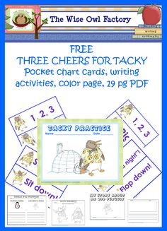 Three Cheers for Tacky Free Printables with reading and movement activities from The Wise Owl Factory
