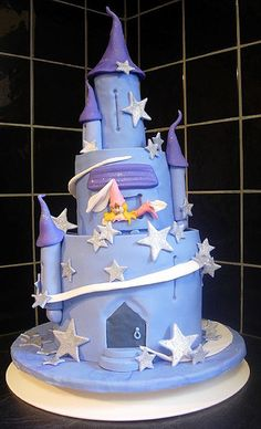 Princess in castle tower cake