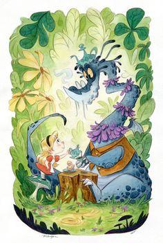Alice and a Dragon at Tea Time / Alice e un Drago all'ora del Tè