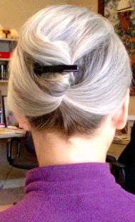Donna at Rock the Silver with an updo.