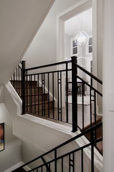 Aspen Estates Project contemporary staircase - JT likes the metal banister