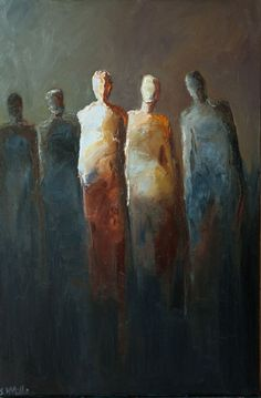 Potential for faceless sculptures  -Expressionist painting by Shelby McQuilkin