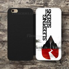sleeping with sirens Wallet Case For iPhone 6S Plus 5S SE 5C 4S case, Samsung Galaxy S3 S4 S5 S6 Edge S7 Edge Note 3 4 5 Cases