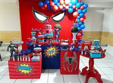 Oooooohhhh YES! What ever to same time for ready come party home! Hulk Birthday, Baby Boy 1st Birthday, Avengers Birthday, Superhero Birthday Party, 4th Birthday Parties, Spiderman Theme Party, Manly Party Decorations, Minnie Mouse Birthday Decorations, Man Party