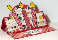 Birthday Candles created by Frances Byrne using Candles4birthdays; morecandles2stamp & coordinating die set – The Stamps of Life & Sizzix Elegant Stand-ups Card Framelits