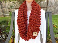 Knit Cowl  Chunky Infinity Cowl   Unisex Scarf by knittingbyreneau, $48.50